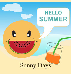 hello summer - sunny days vector image
