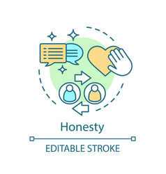 honesty concept icon vector image