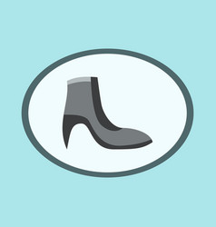 icon in flat design fashion footwear women boot vector image