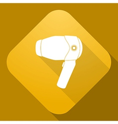 Icon of Hairdryer with a long shadow vector