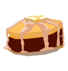 isolated geometric cake vector image