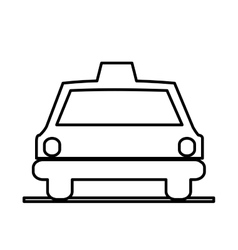 Isolated taxi silhouette design vector