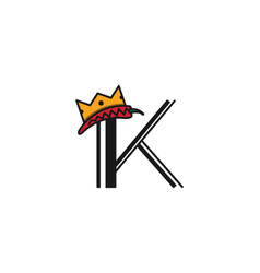 letter k and crown king queen logo designs vector image