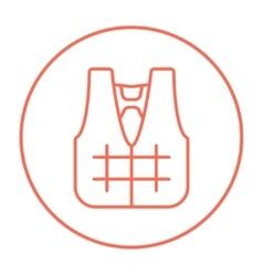 Life vest line icon vector