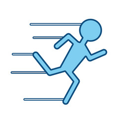 Man running pictogram vector