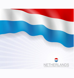 netherlands flags brochure design banner vector image