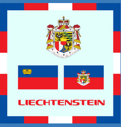 official government ensigns of liechtenstein vector image