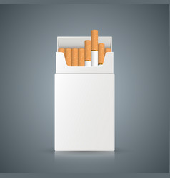 Packing of cigarettes on the grey background vector