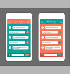 phone chat interface vector image