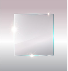 Photo of blank glass plate with copy space vector