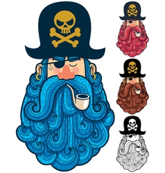 Pirate Portrait 2 vector image