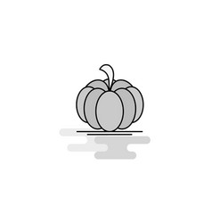 pumpkin web icon flat line filled gray icon vector image