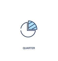 Quarter concept 2 colored icon simple line vector