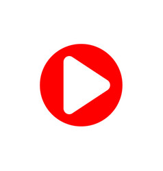 Red play button icon youtube icon play video vector