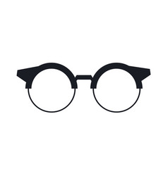 Round glasses or reading eyeglasses classic style vector