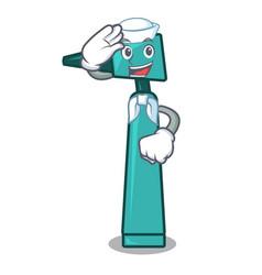 sailor otoscope character cartoon style vector image