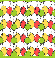 Seamless pattern with colored balloons festive vector