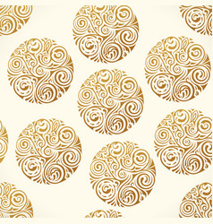 Seamless tattoo pattern gold doodle vector