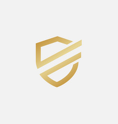 shield logo design vector image