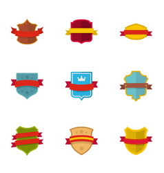 standard icons set flat style vector image