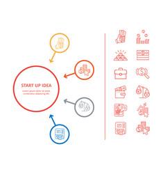 Startup idea presentation vector