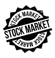 Stock Market rubber stamp vector image