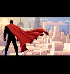 super businessman watch day vector image