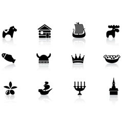 Swedish icons vector image