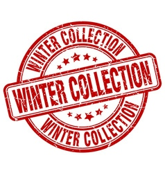 winter collection red grunge round vintage rubber vector image