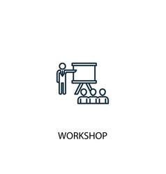 Workshop concept line icon simple element vector