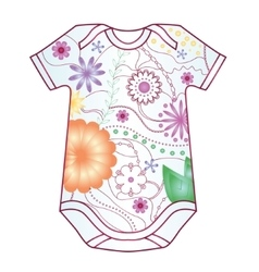 Baby body dress with gradient flowers vector image vector image