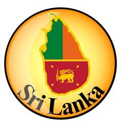 button Sri Lanka vector image