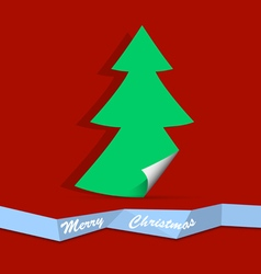 Christmas tree from paper vector image vector image