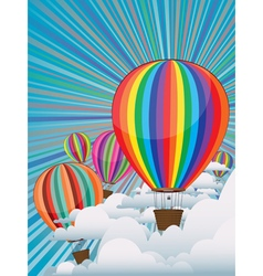 Colorful Hot Air Balloons3 vector image vector image