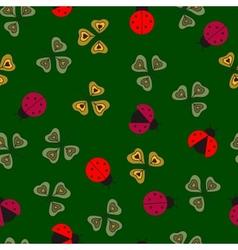 Ladybugs pattern vector