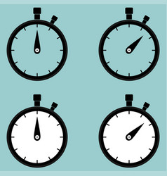 stop watch second counter icon vector image