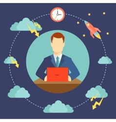 difficulties of startup starting vector image vector image