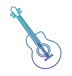 guitar musical instrument isolated icon vector image