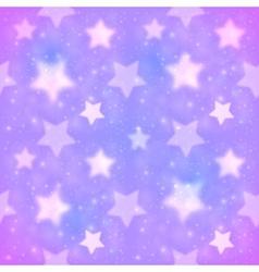 Purple blurred stars seamless pattern vector image vector image