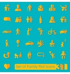 Set of family icons vector image vector image