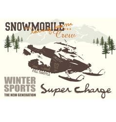 snow mobile vector image