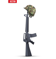 The symbol of a fallen US soldier vector image vector image