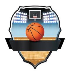 Basketball Badge vector image