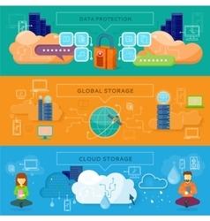 Data Protection Global Storage vector image