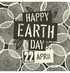 Happy Earth Day Logotype with 22 April date on vector image vector image