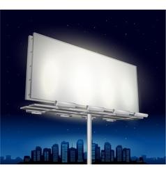 Highway ad billboard roadside at night vector