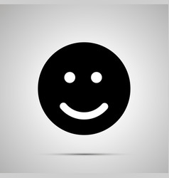 smile silhouette simple black happy face icon vector image