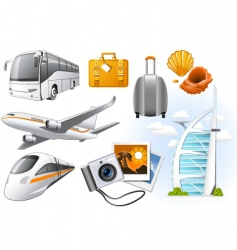 transport and travel icons vector image