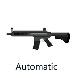 assault automatic black rifle military gun on vector image