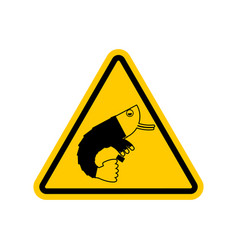 attention office plankton dangers of yellow road vector image